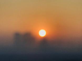 First sunrise in 2018