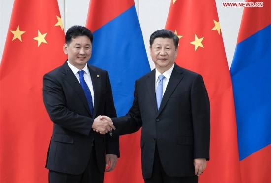 Xi, Putin and Battulga meet in June, Qingdao